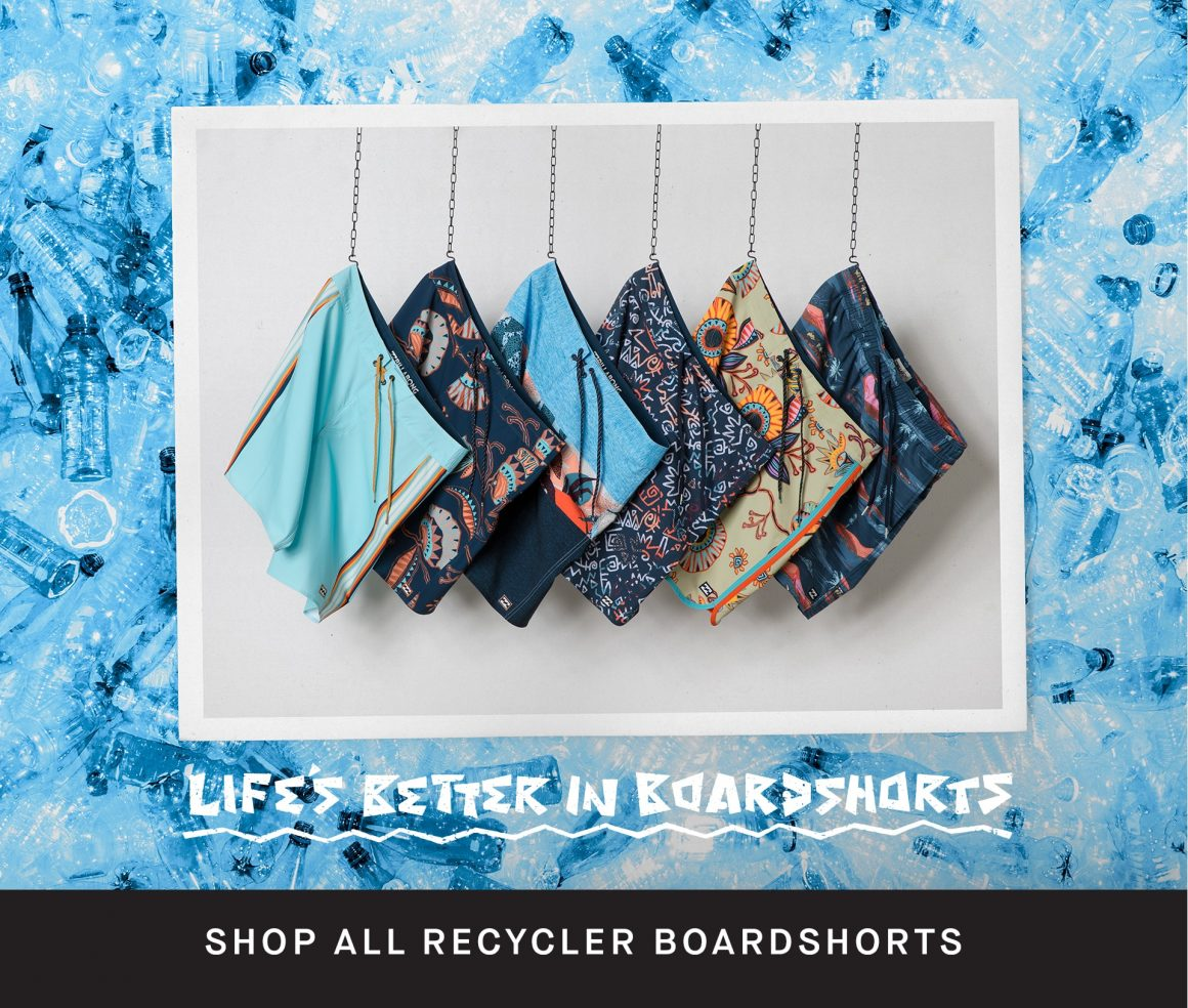 d96b897bd0 ASB MAGAZINE: In 2007, Billabong launched the Recycler Series Boardshorts,  becoming the first company to make boardshorts with recycled P.E.T bottles.